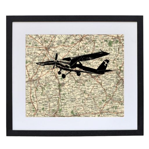 Plane Print with Personalised Map