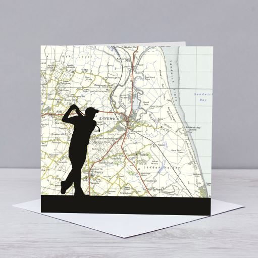 Golfing over Royal St George's Golf Course Card