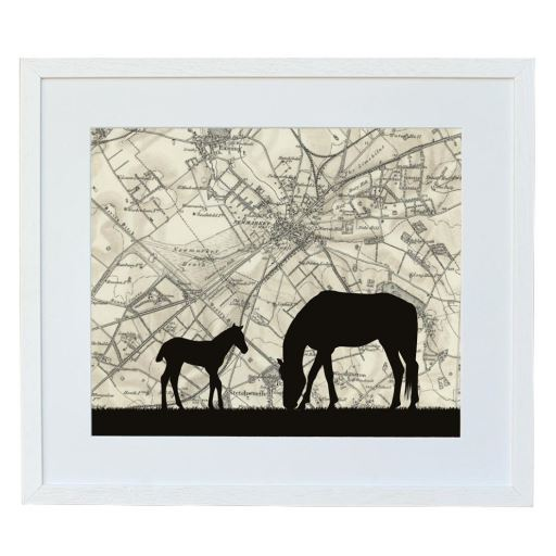 Horse Print with Personalised Map