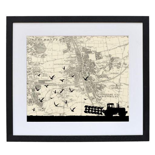 Farming Print with Personalised Map
