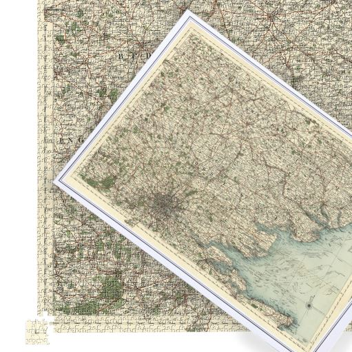 Antique Map Puzzle - Suffolk, Hertford, Essex, Cambridge & London