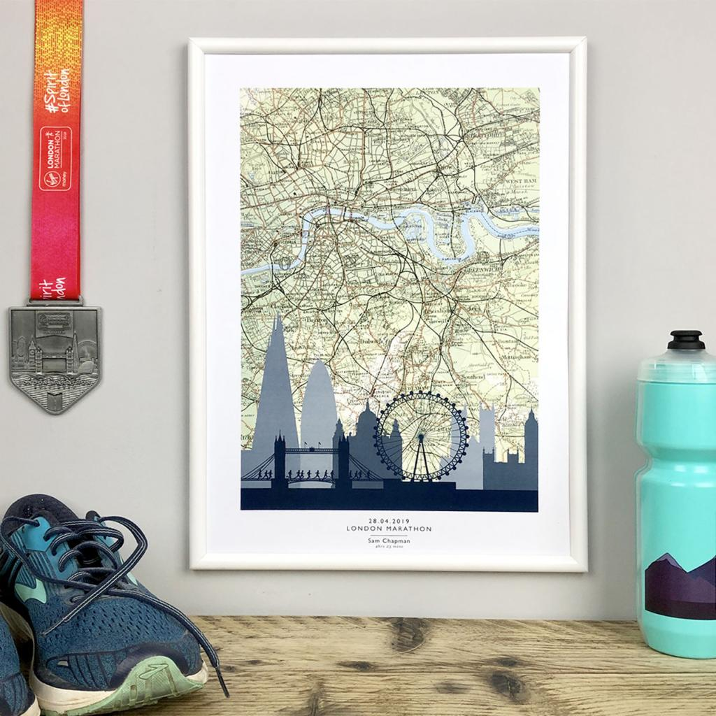 Personalised London Marathon Map Poster