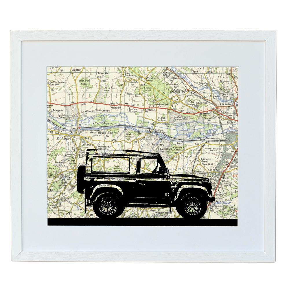 Personalised Land Rover Silhouette