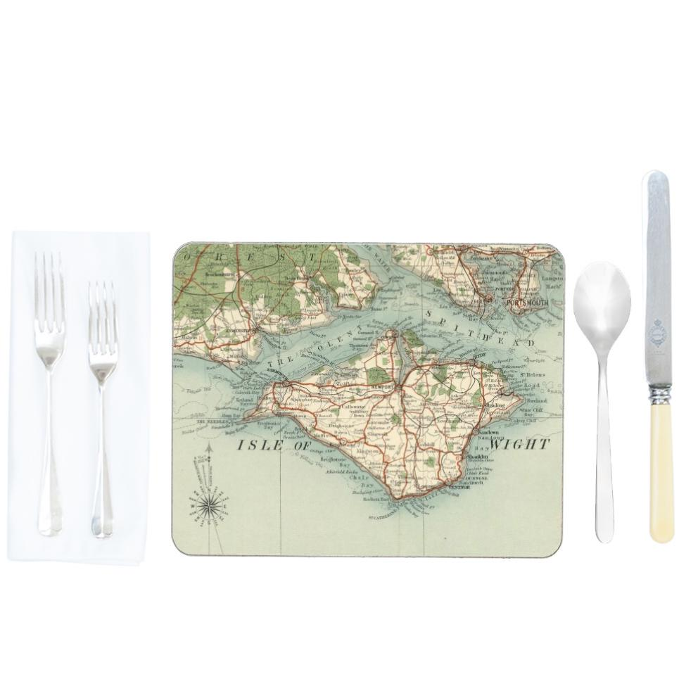 Personalised Vintage Map Placemats