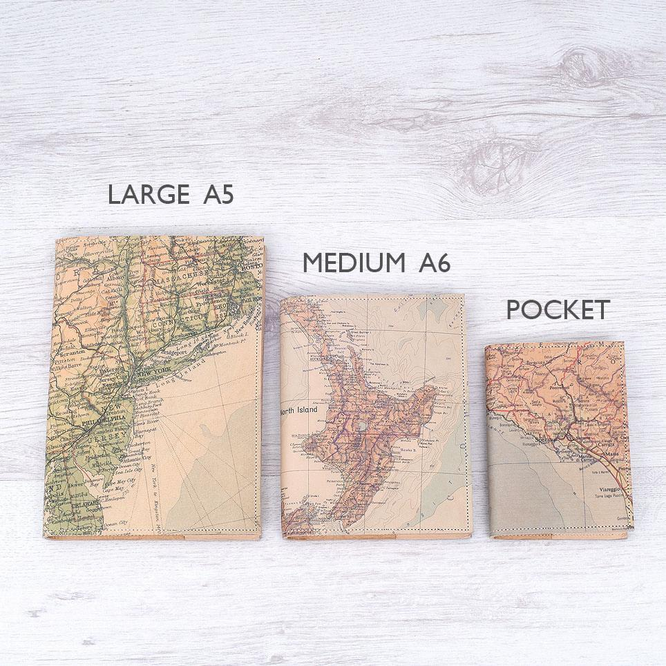 Personalised Map Refillable Journal