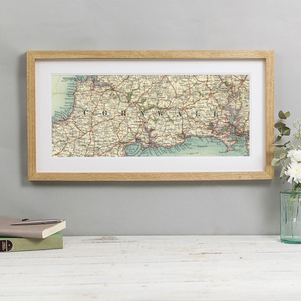 Personalised Vintage Map Rectangular Print