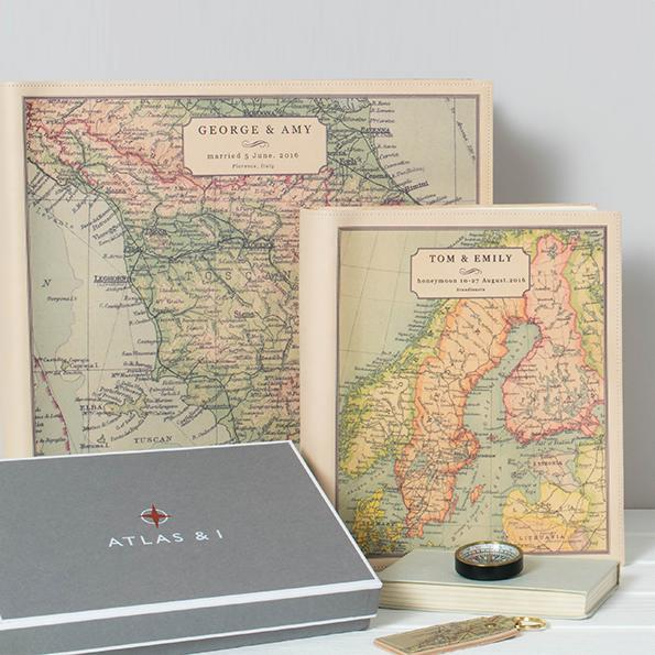 Personalised Map Leather Photo Album