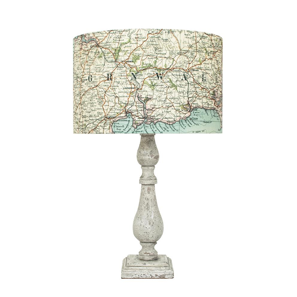 Personalised Vintage Map Lampshade