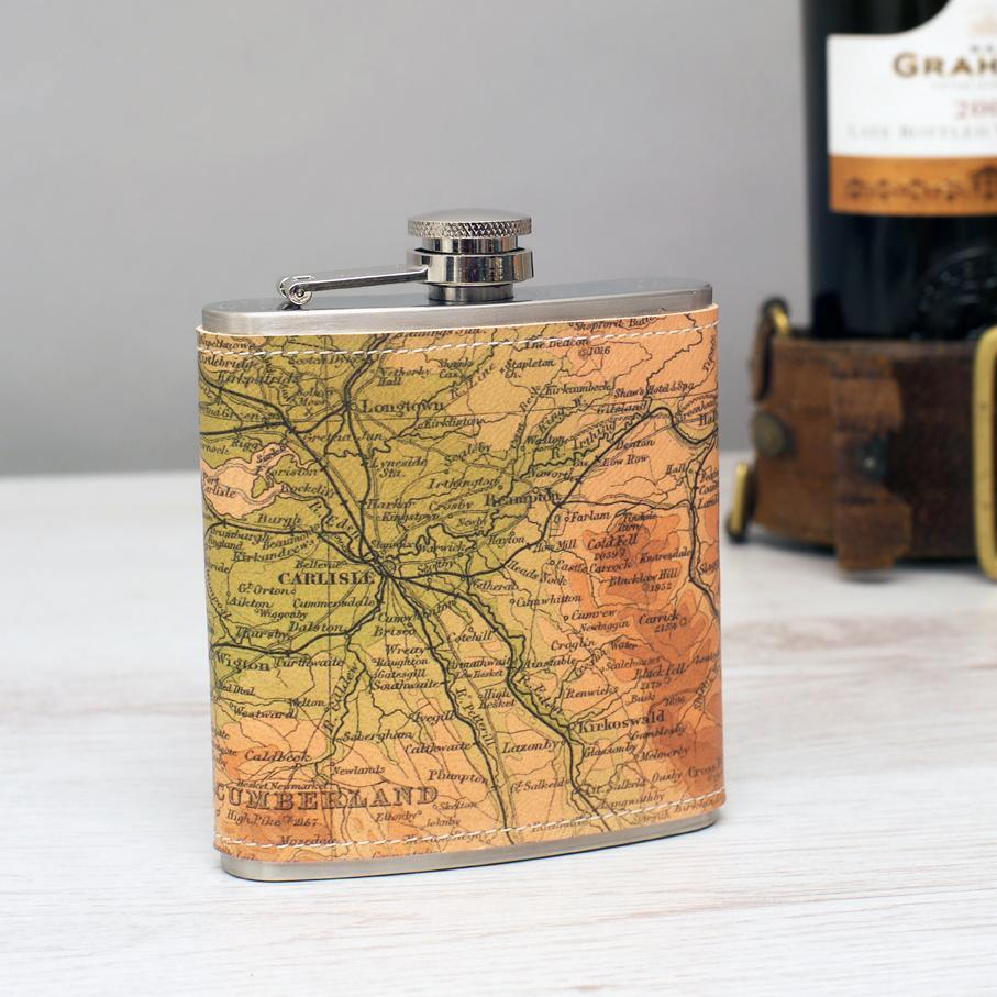 Personalised Leather Hip Flask