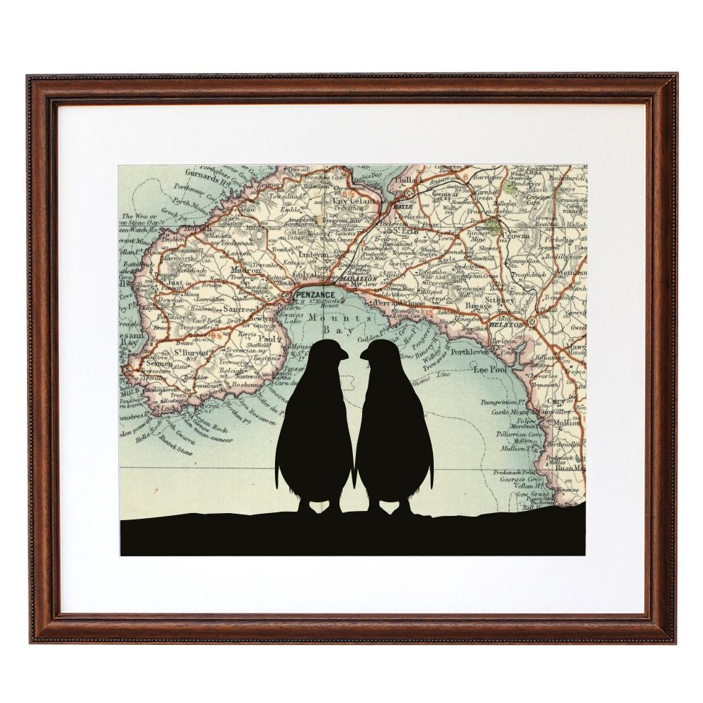 Personalised Penguins Silhouette