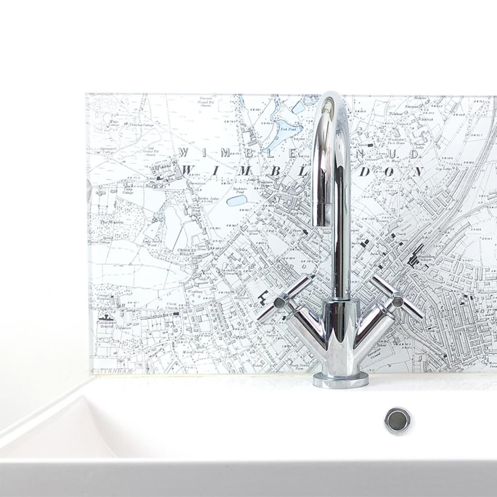 Personalised Map Glass Splashback