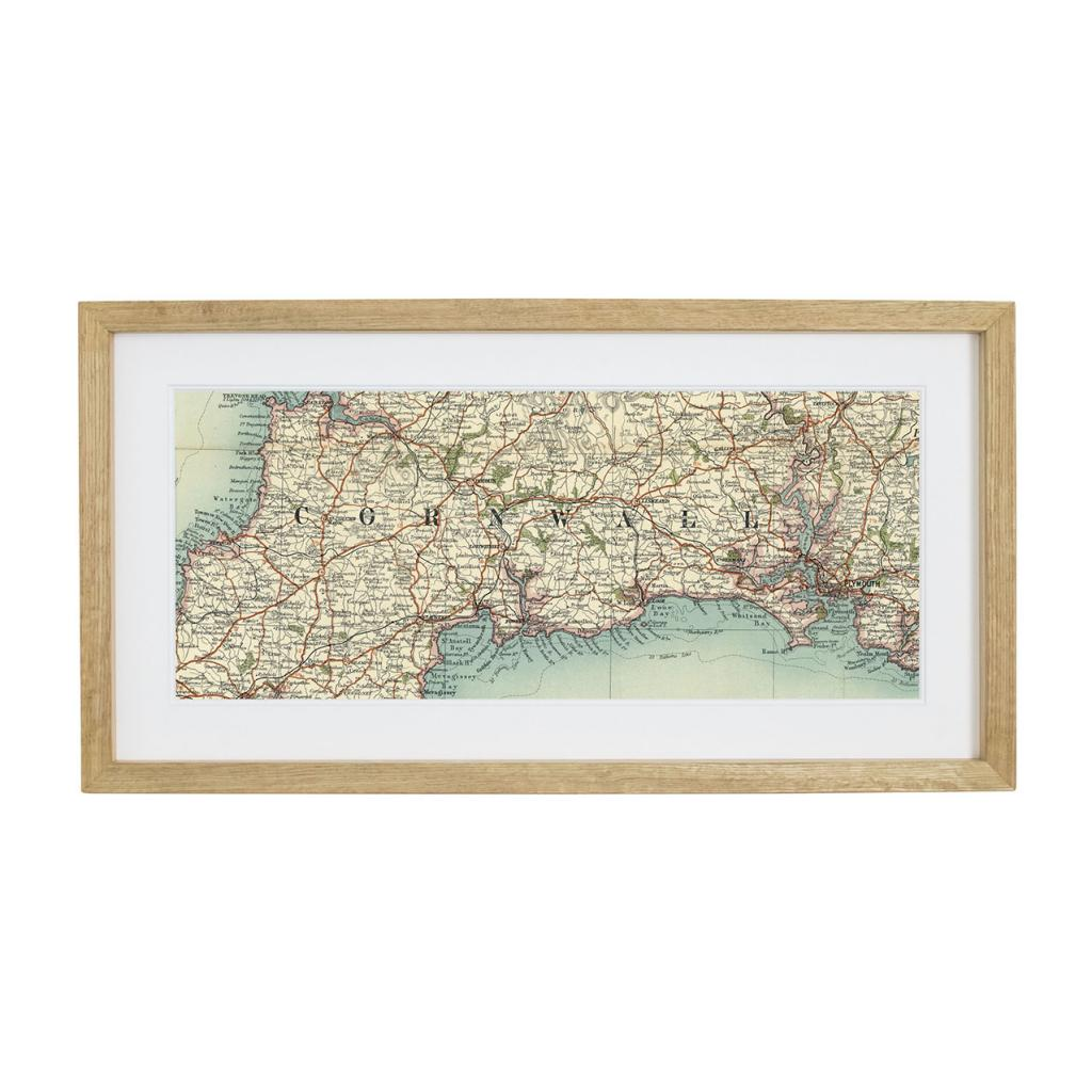 Personalised Vintage Map Panoramic Print