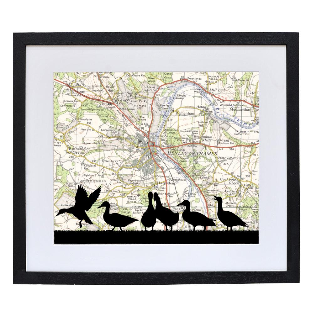 Farm Animals Print with Personalised Map