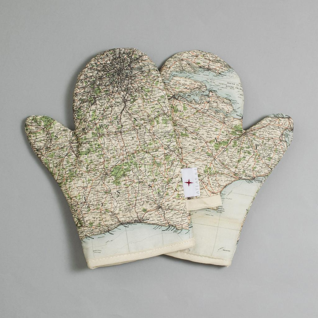 Surrey, Sussex, London and Kent Map Oven Glove