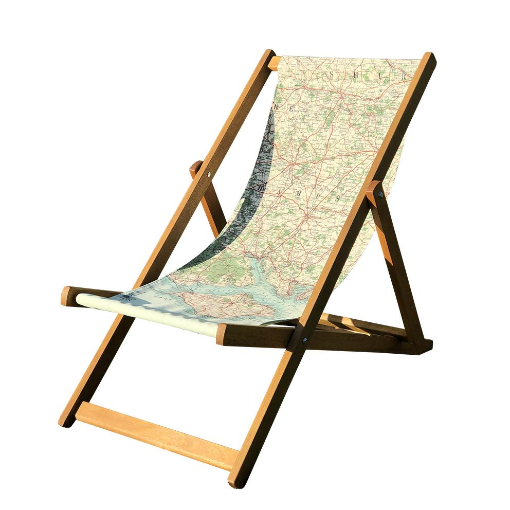 Personalised Vintage Map Deckchair
