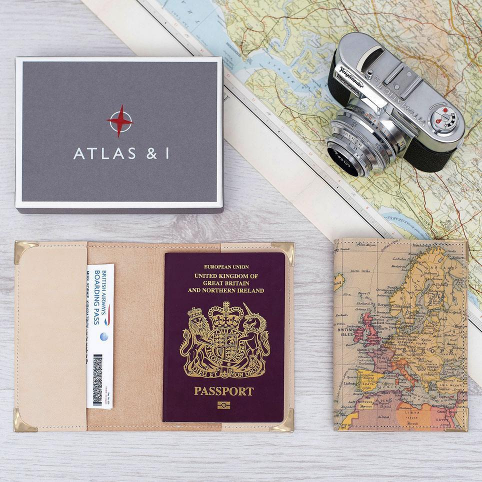 Personalised Leather Passport Cover