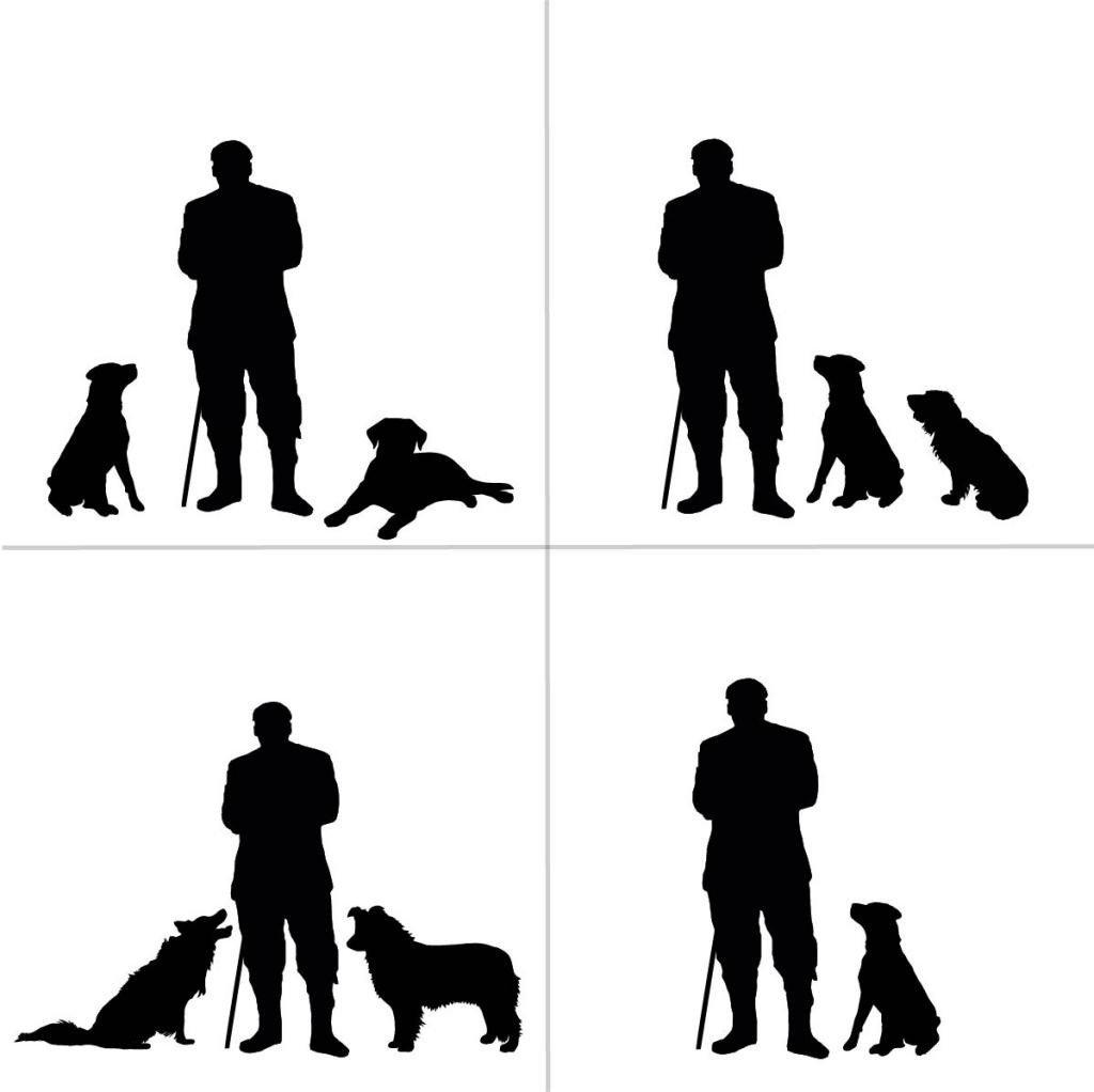 Personalised Gamekeeper Silhouette