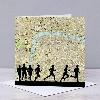 London Marathon Map Card