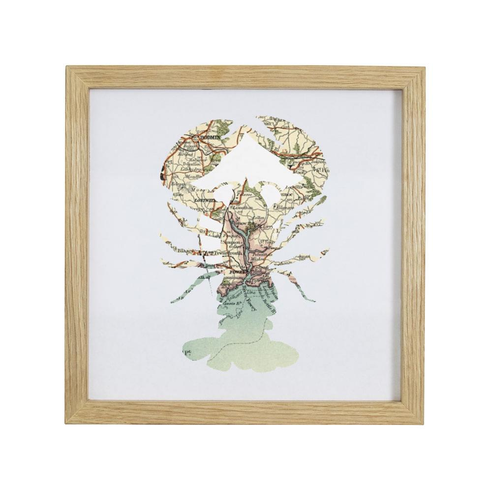 Personalised Vintage Map Lobster Print