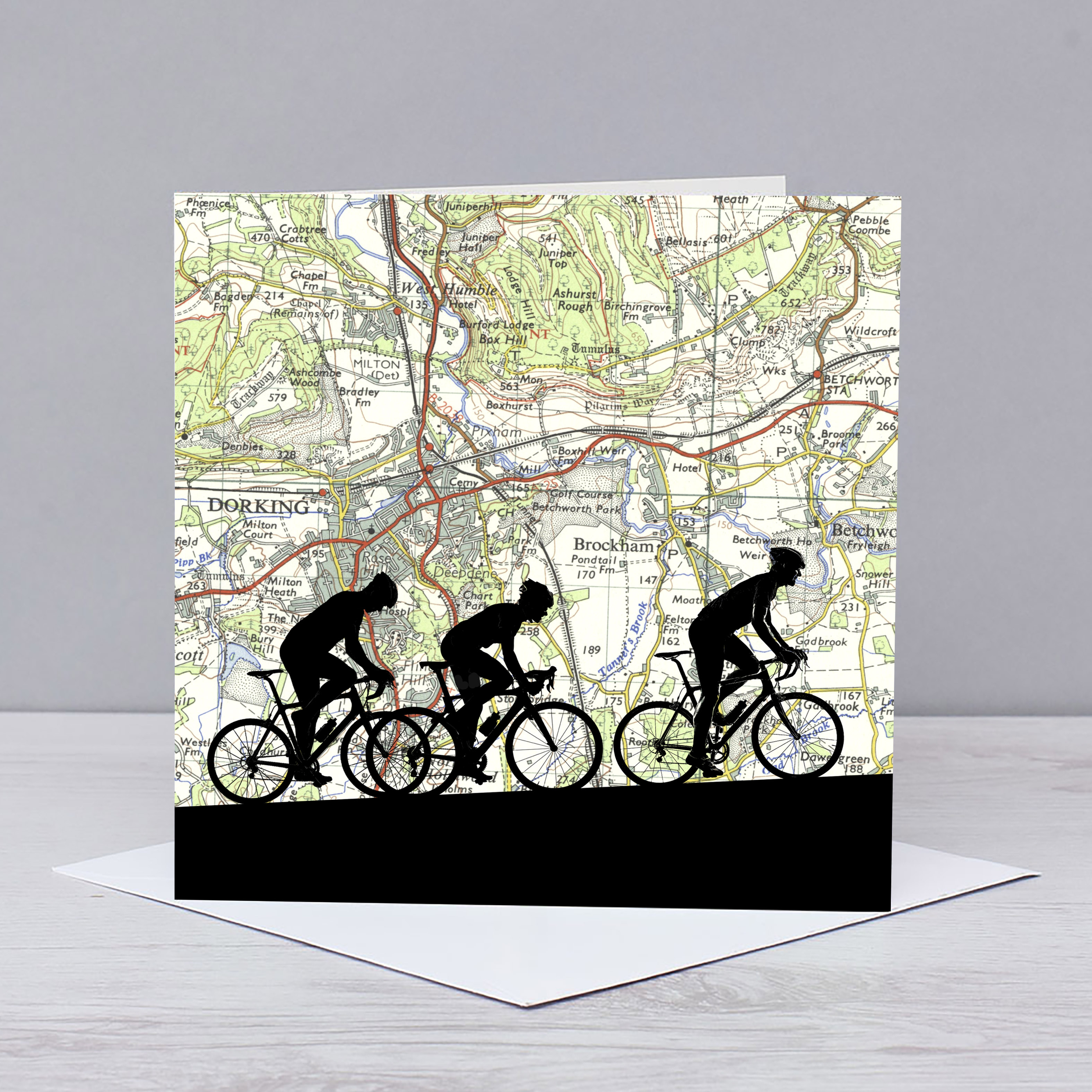 Cycling Over Box Hill & Surrey Card