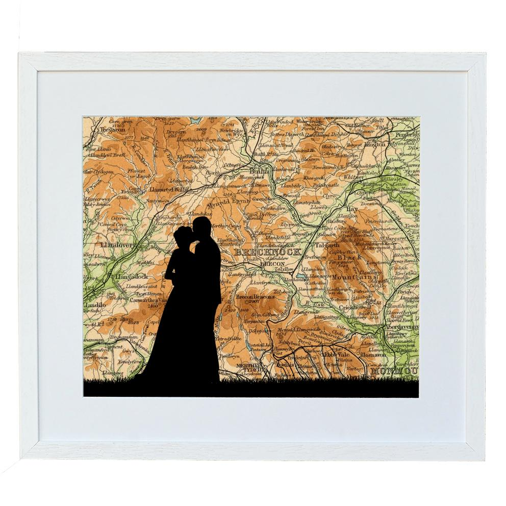 Wedding Print with Personalised Location