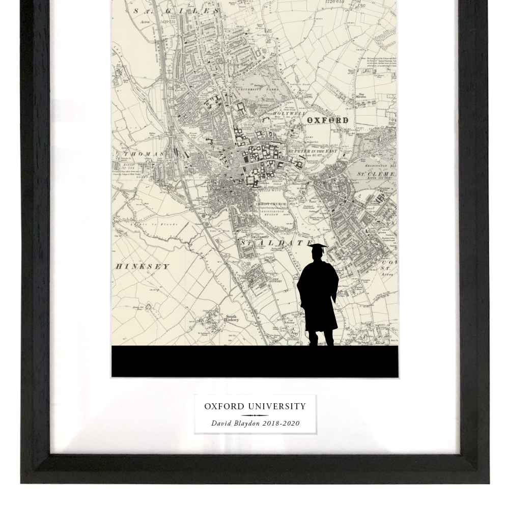 Graduation Print with Personalised Map
