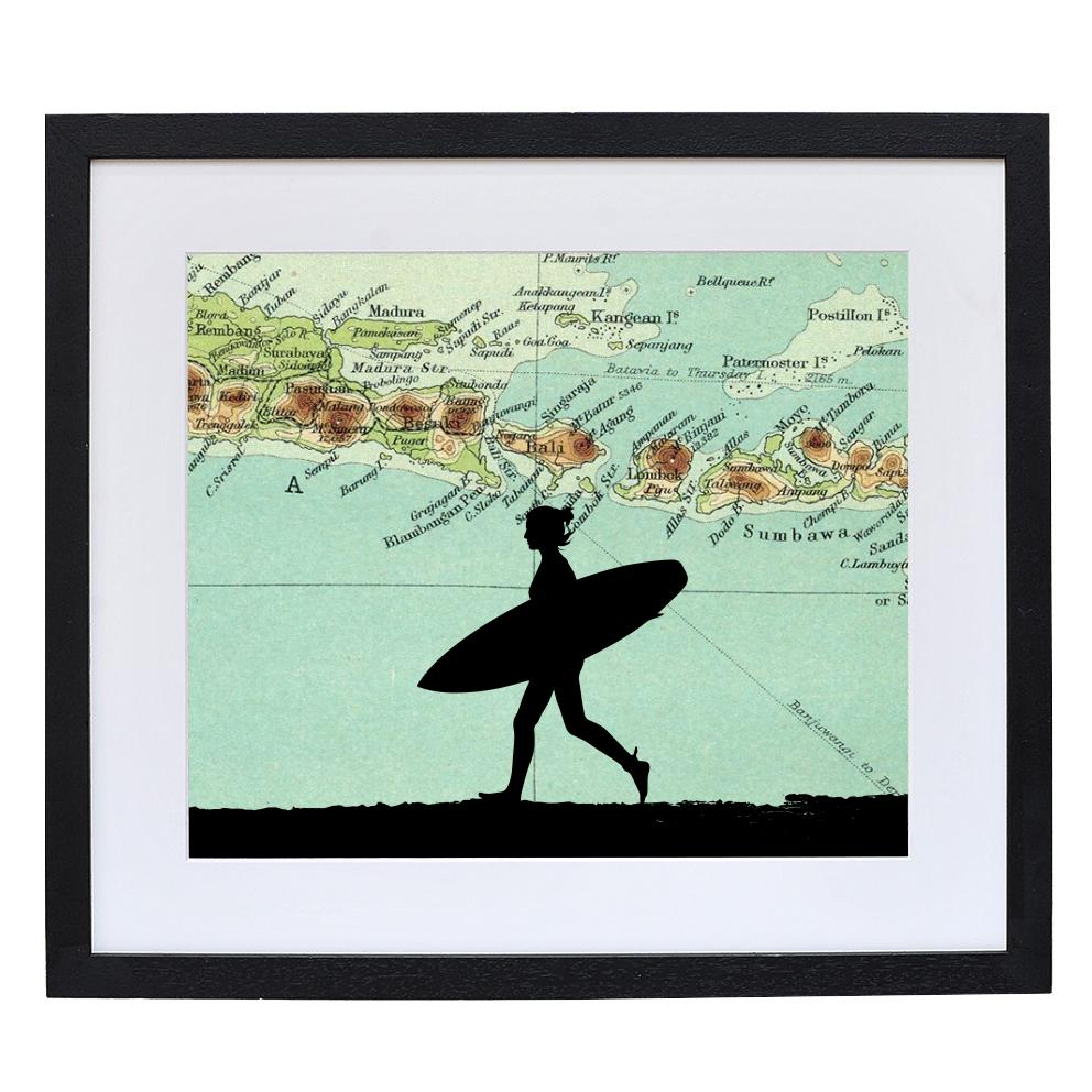 Personalised Surfing Silhouette
