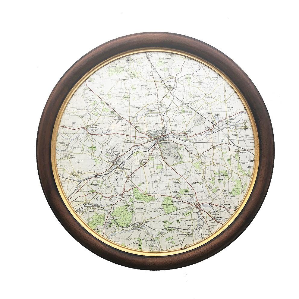 Circular Frame with Personalised Map