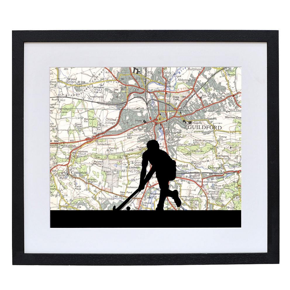Personalised Hockey Player Print