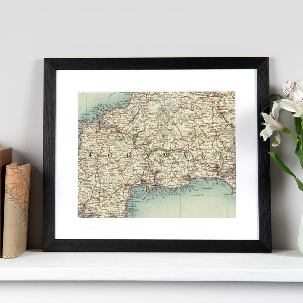 Personalised Vintage Map Print (no silhouette)