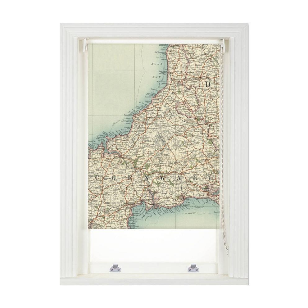 Personalised Vintage Map Blind