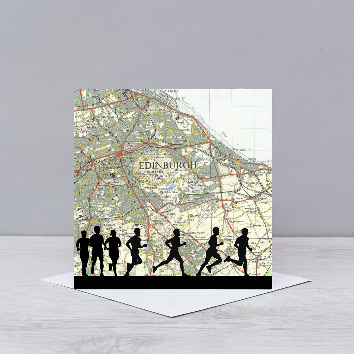 Edinburgh Marathon Good Luck Card