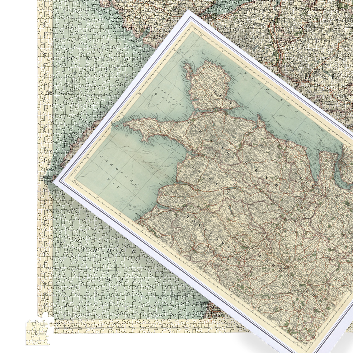 Antique Map Puzzle - Anglesea & North Wales