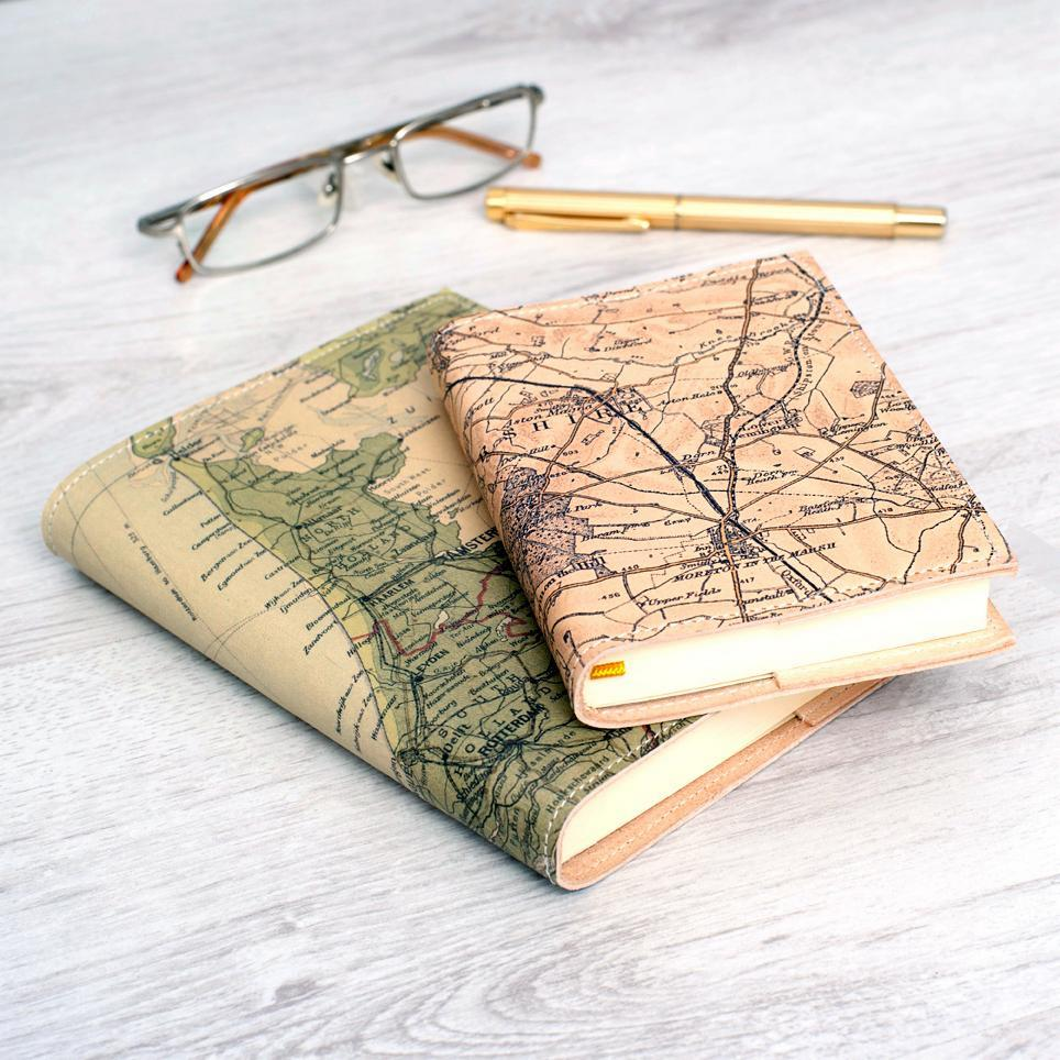 Personalised Vintage Map Refillable Diary 2019