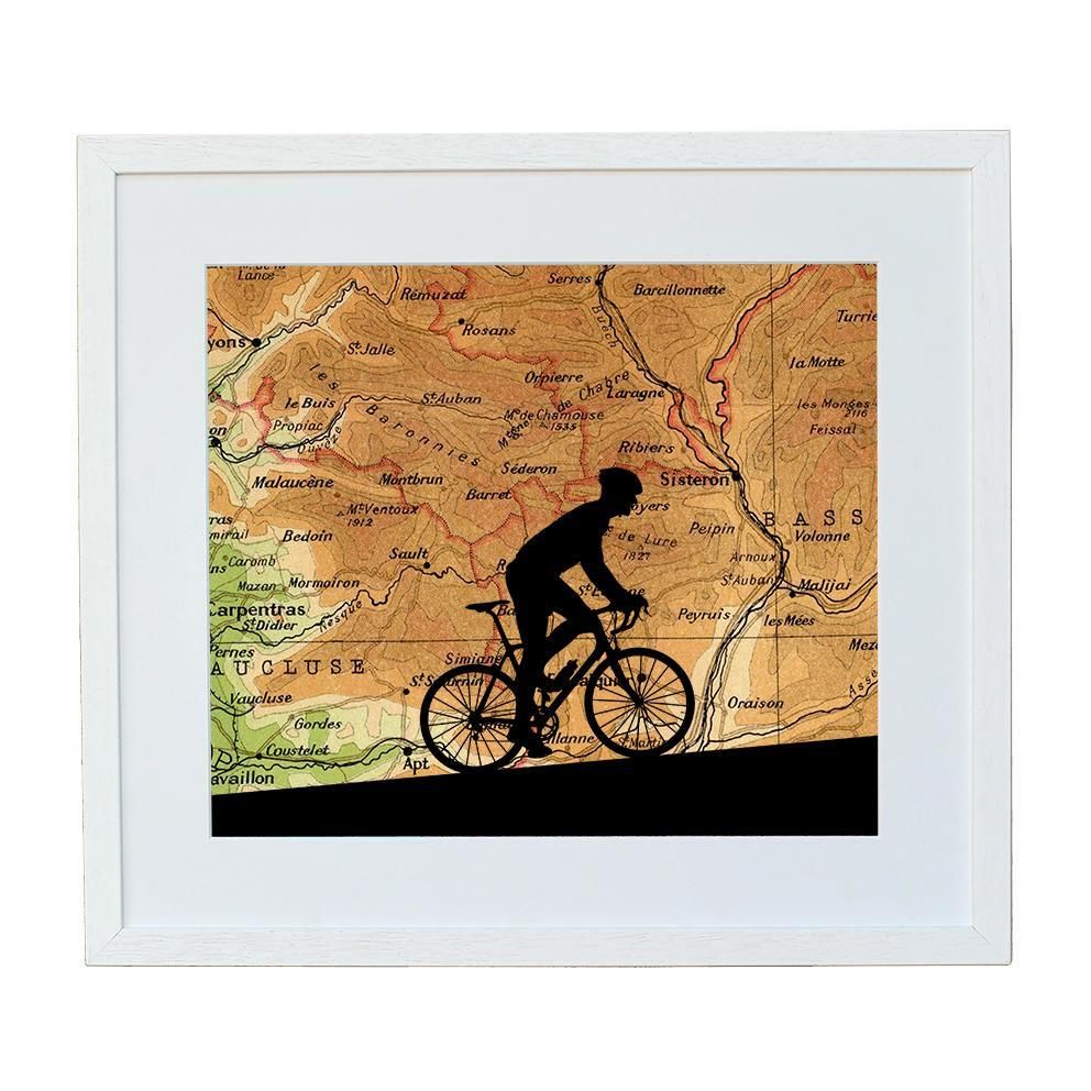 Cycling Print with Personalised Map