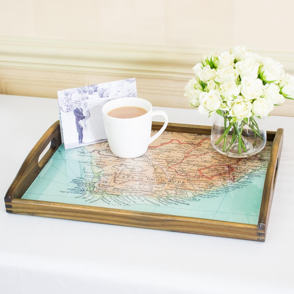 Personalised Map Tray