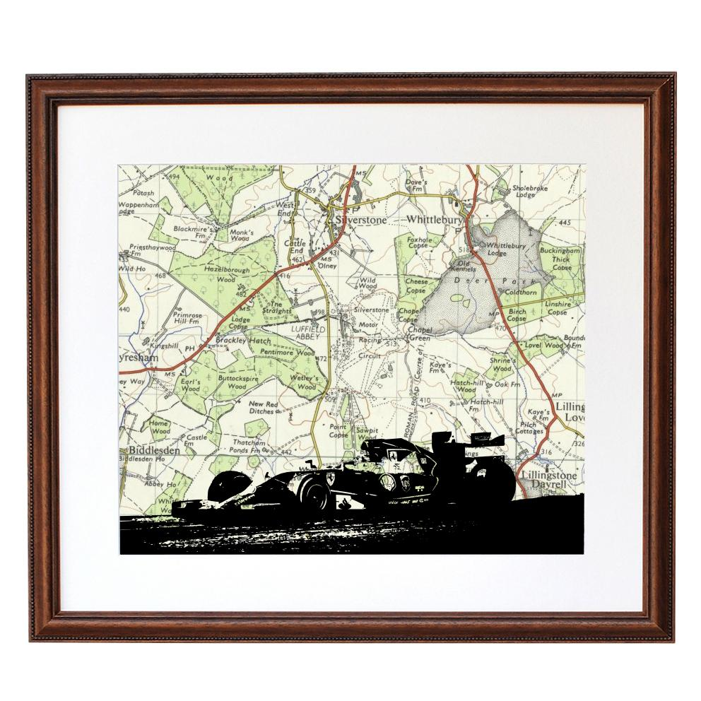 Classic Car Print with Personalised Map