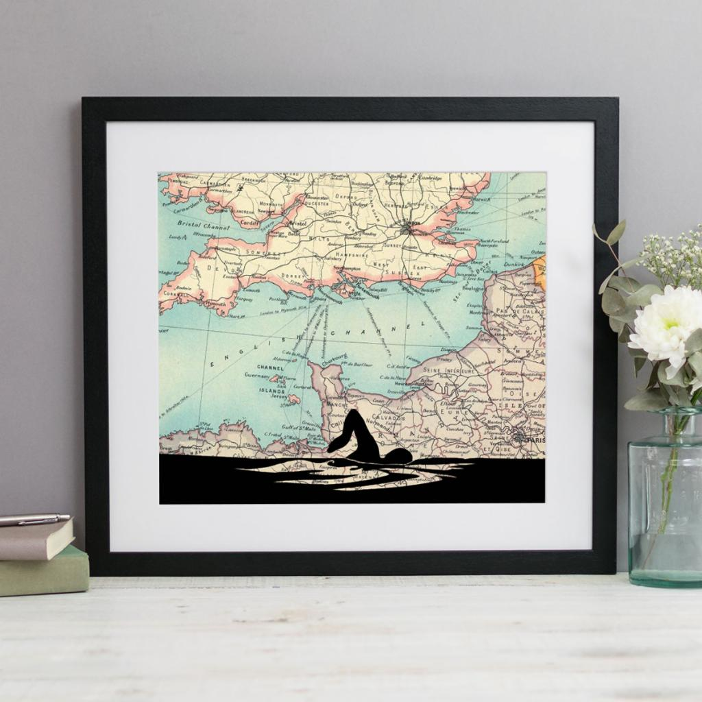 Personalised Swimming Silhouette