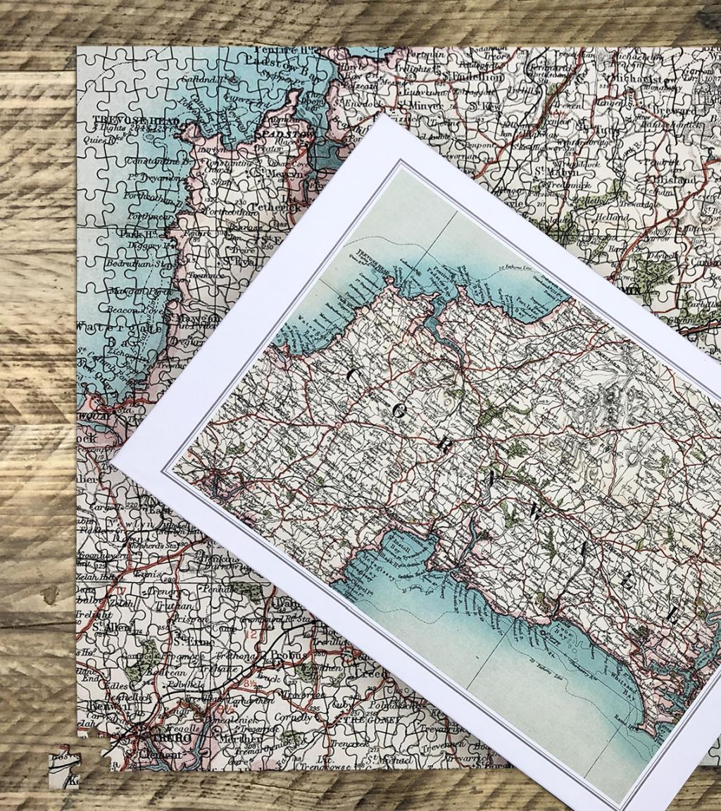 Personalised Vintage Map Jigsaw Puzzle