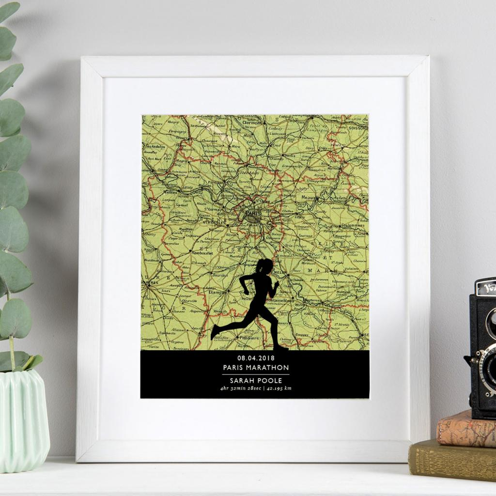 Running Print with Personalised Map