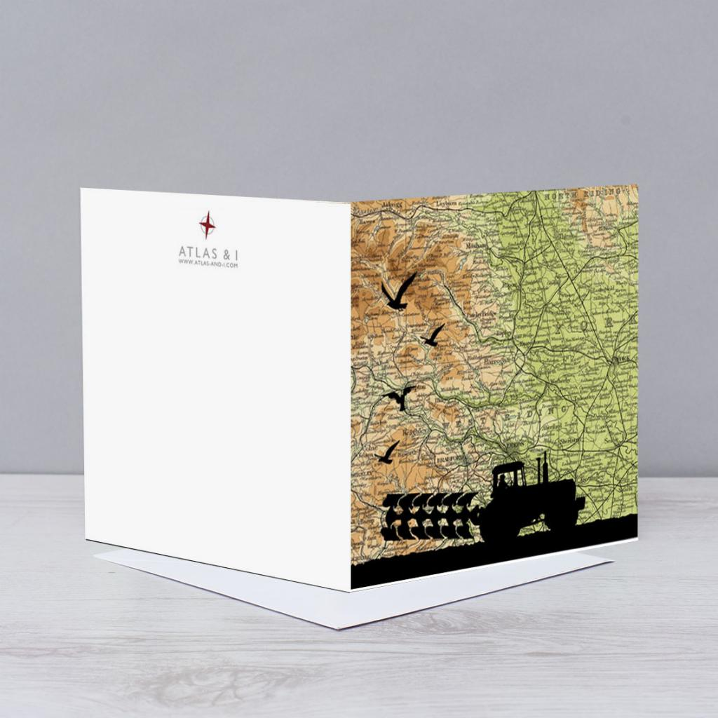 Single Personalised Map Greeting Card Atlas And I
