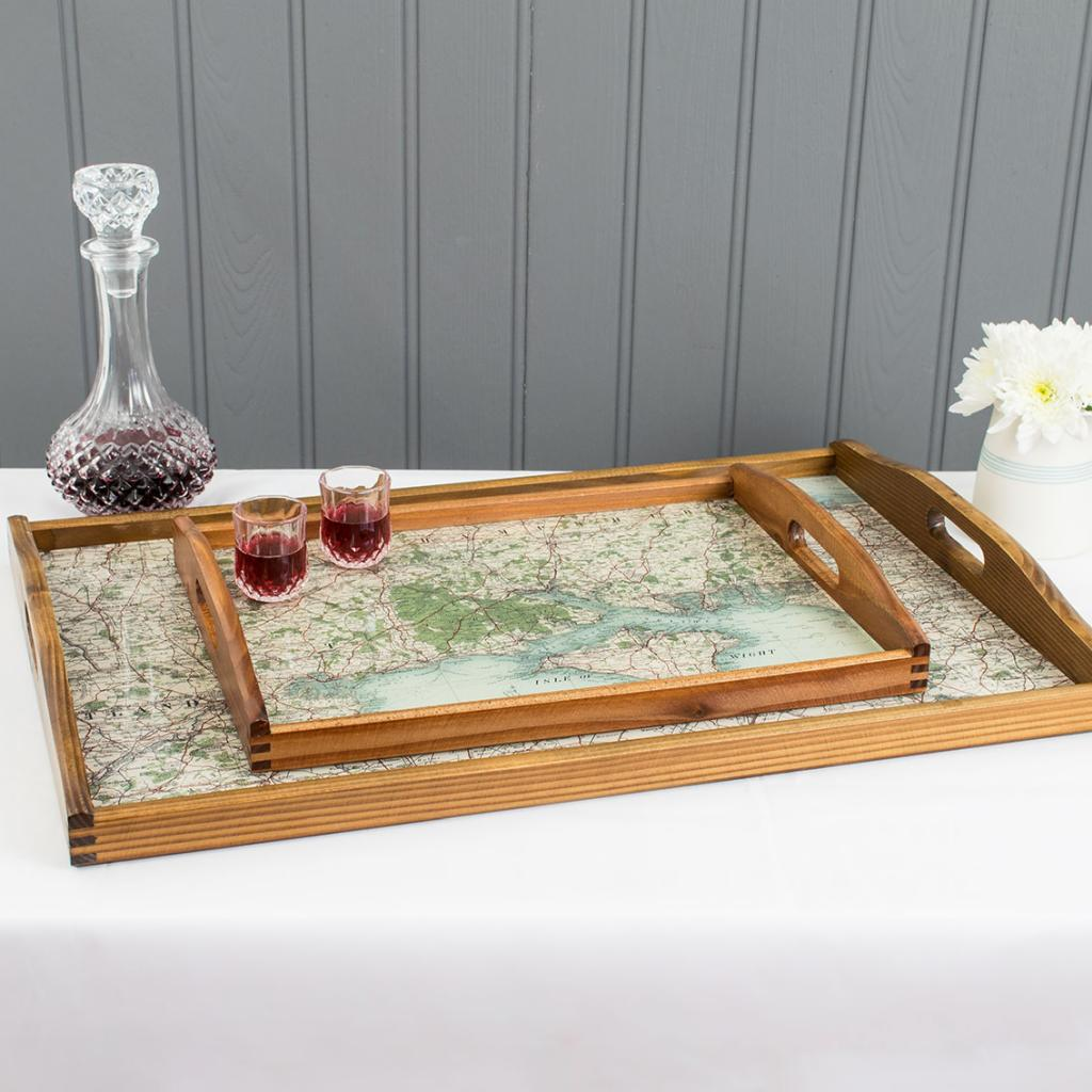 Personalised Map Drinks Tray