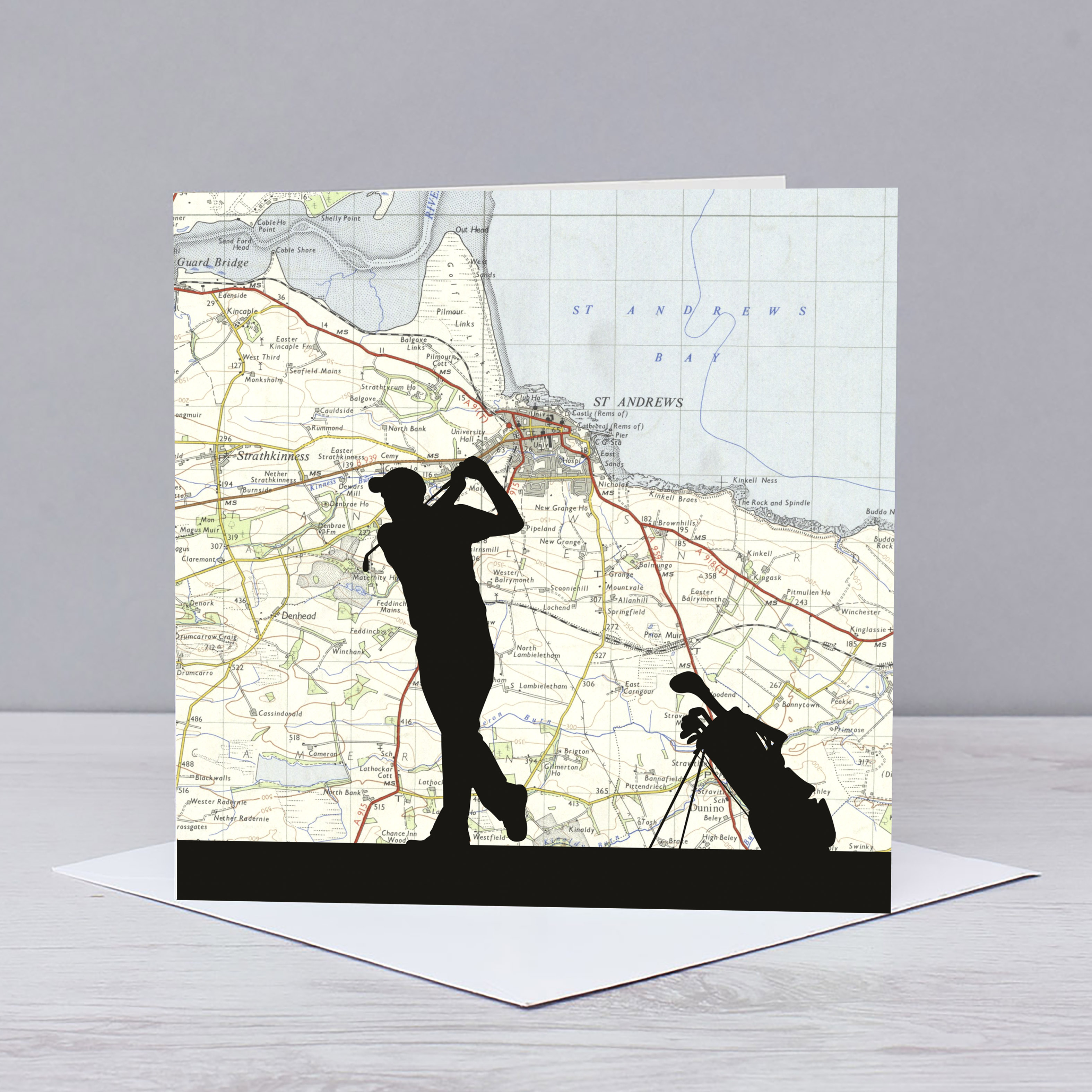 Golfing over St Andrews Card