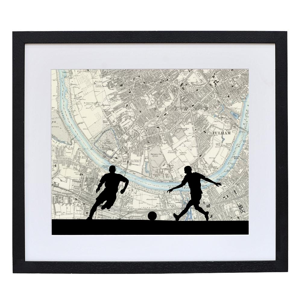 Football Print with Personalised Stadium Map
