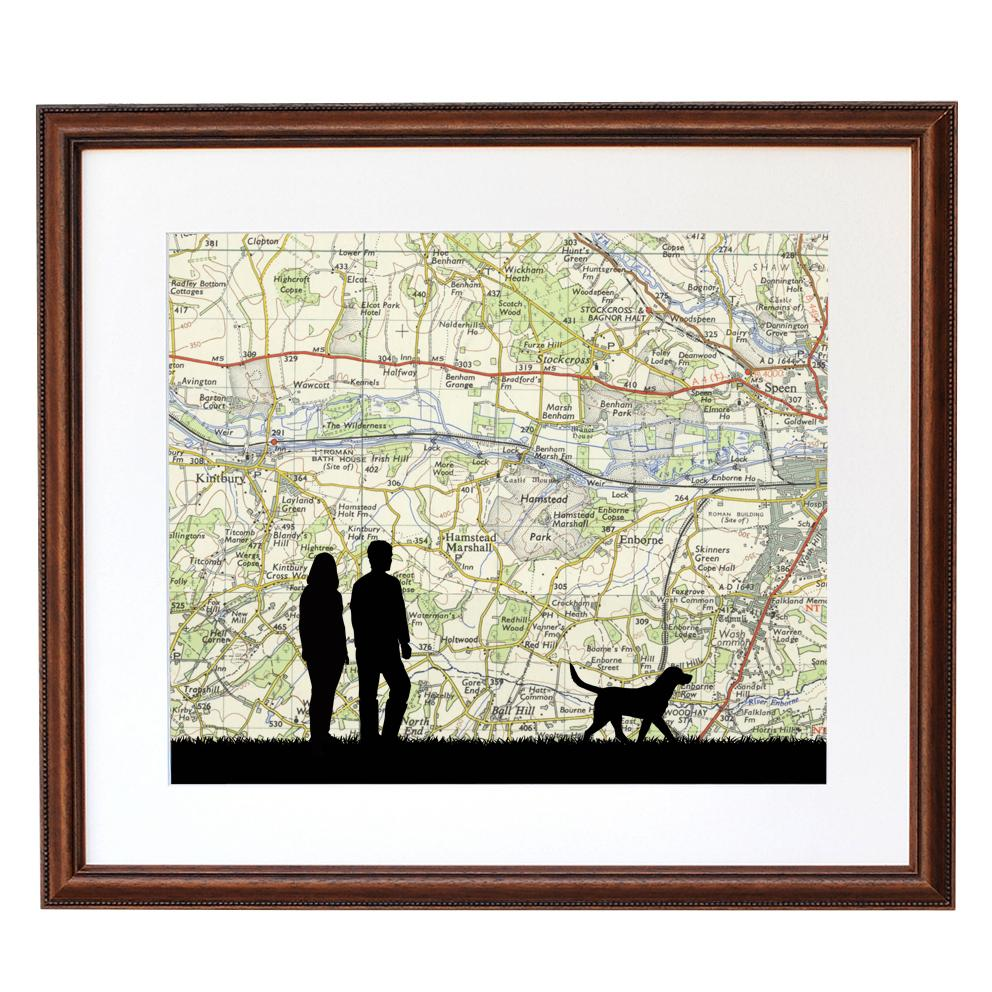 Walking Print with Personalised Map