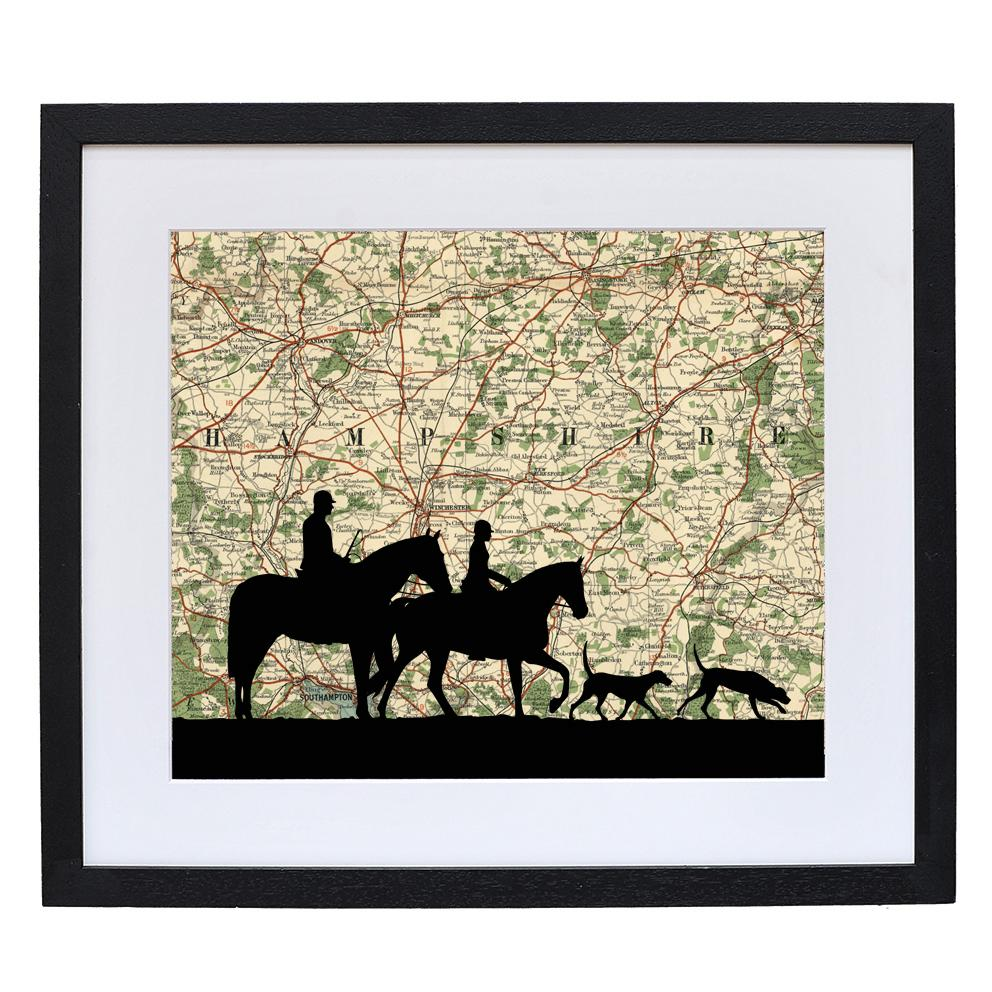 Hunting Print with Personalised Map