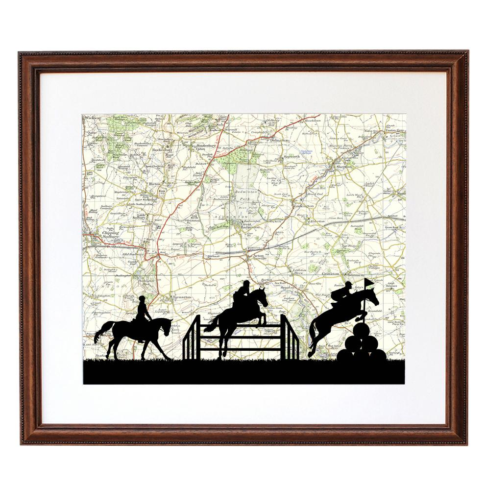 Personalised Eventing Silhouette