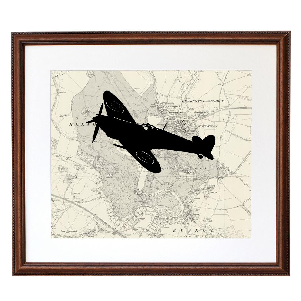 Personalised Flight Path Plane Silhouette